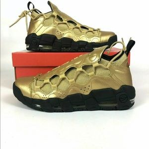 Nike Air More Money Gold Shoes Sneakers
